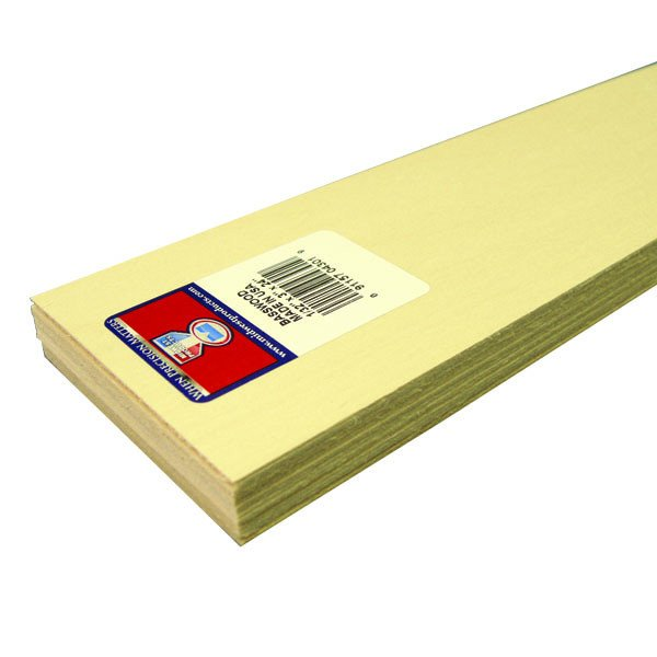 "Midwest Basswood Strip 1/32 x 3 x 24"" (15)"