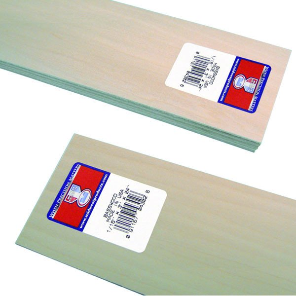 "Midwest Basswood Strip 1/16 x 3 x 24"" (15)"
