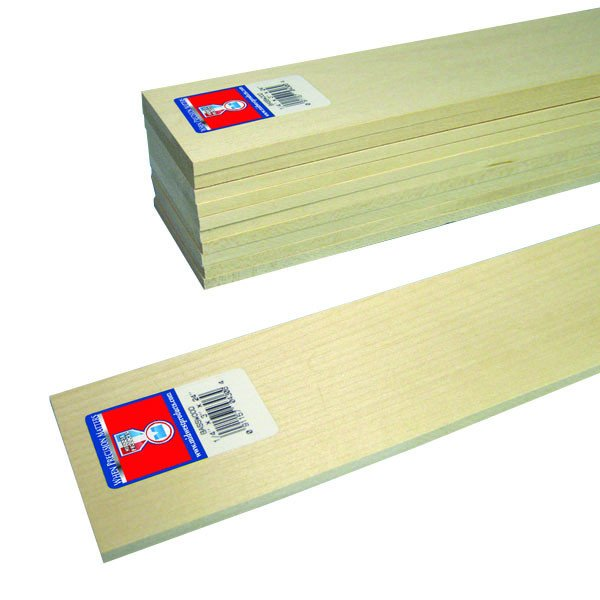 "Midwest Basswood Strip 1/4 x 3 x 24"" (10)"