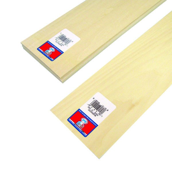"Midwest Basswood Strip 1/32 x 4 x 24"" (15)"