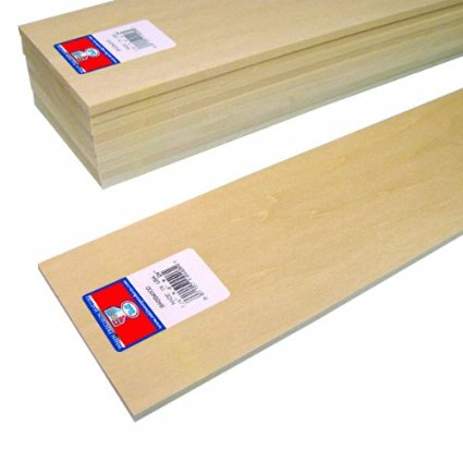 "Midwest Basswood Strip 1/4 x 4 x 24"" (10)"