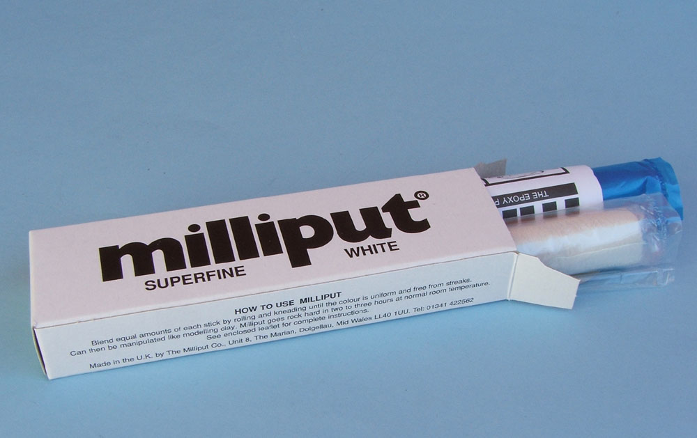 Milliput Superfine White Two Part Epoxy Putty (10)