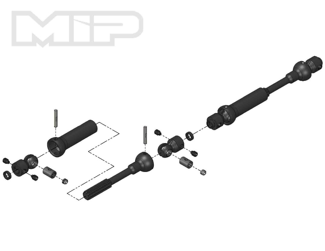 MIP X-Duty, Center Drive Kit, 110x135mm w/ 5mm Hubs