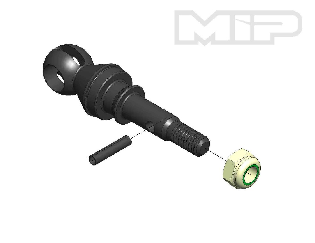 MIP X-Duty, CVD Axle, 17mm Offset with 12x6mm Bearing