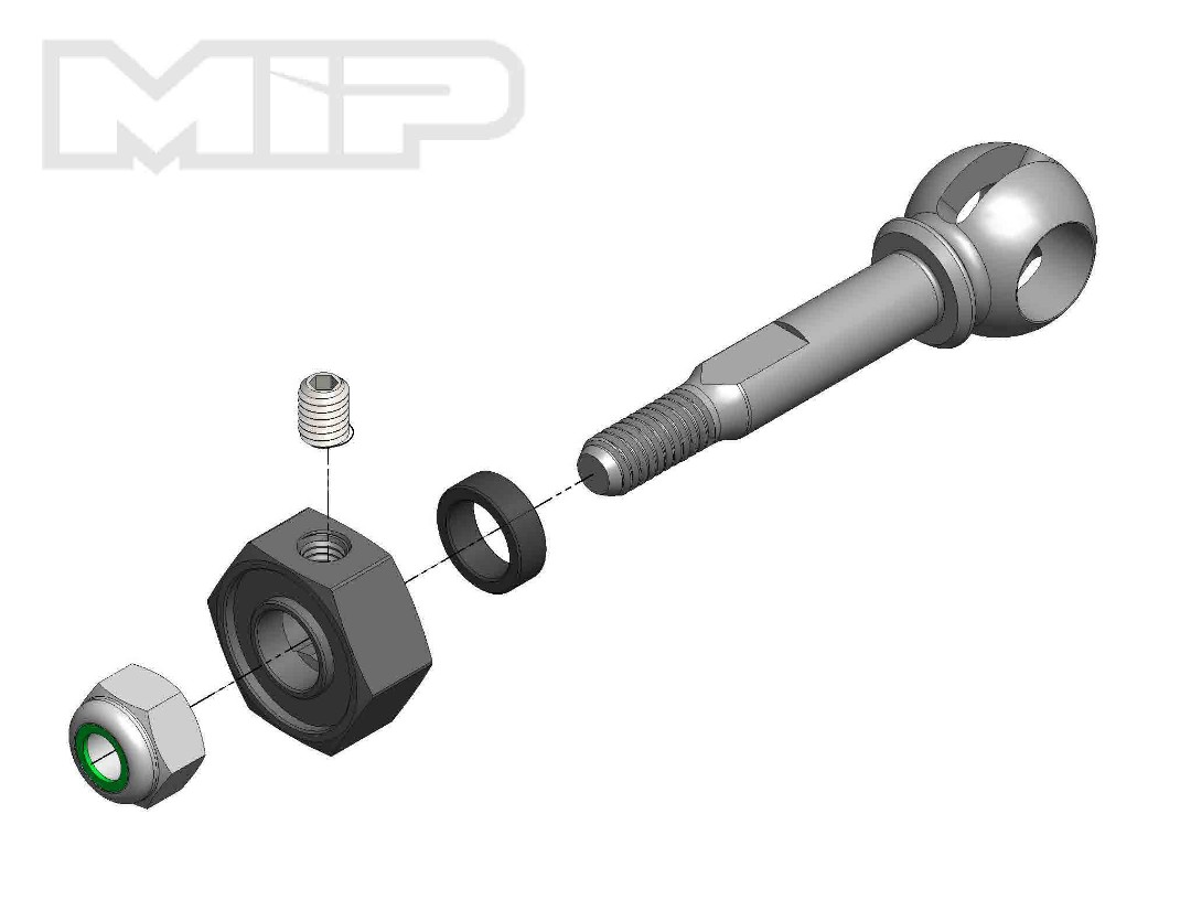 MIP X-Duty, CVD Axle, 10mm Offset w/ 5mm Bearing