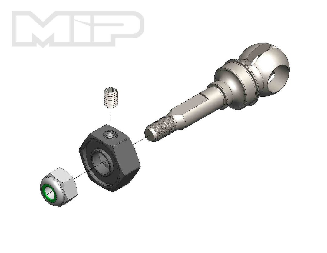 MIP X-Duty, CVD Axle, 11mm Offset w/ 10mm x 5mm Bearing