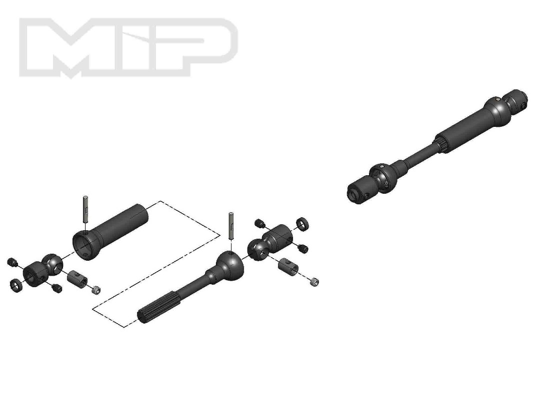 MIP X-Duty, Center Drive Kit, 115mm to 140mm w/ 5mm Hubs
