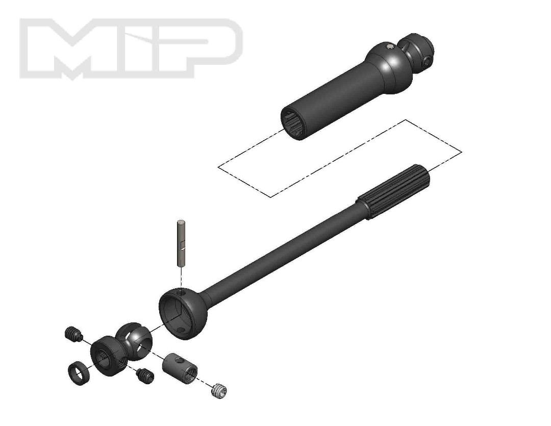 MIP X-Duty, Center Drive Kit, Single Shaft, 140mm to 165mm w/ 5m