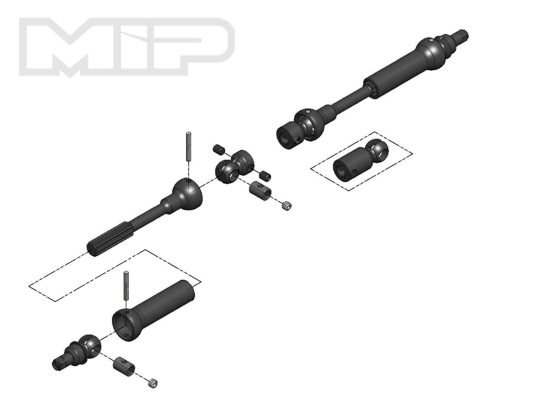 MIP X-Duty, Center Drive Kit, 95mm to 130mm w/ 5mm Hubs