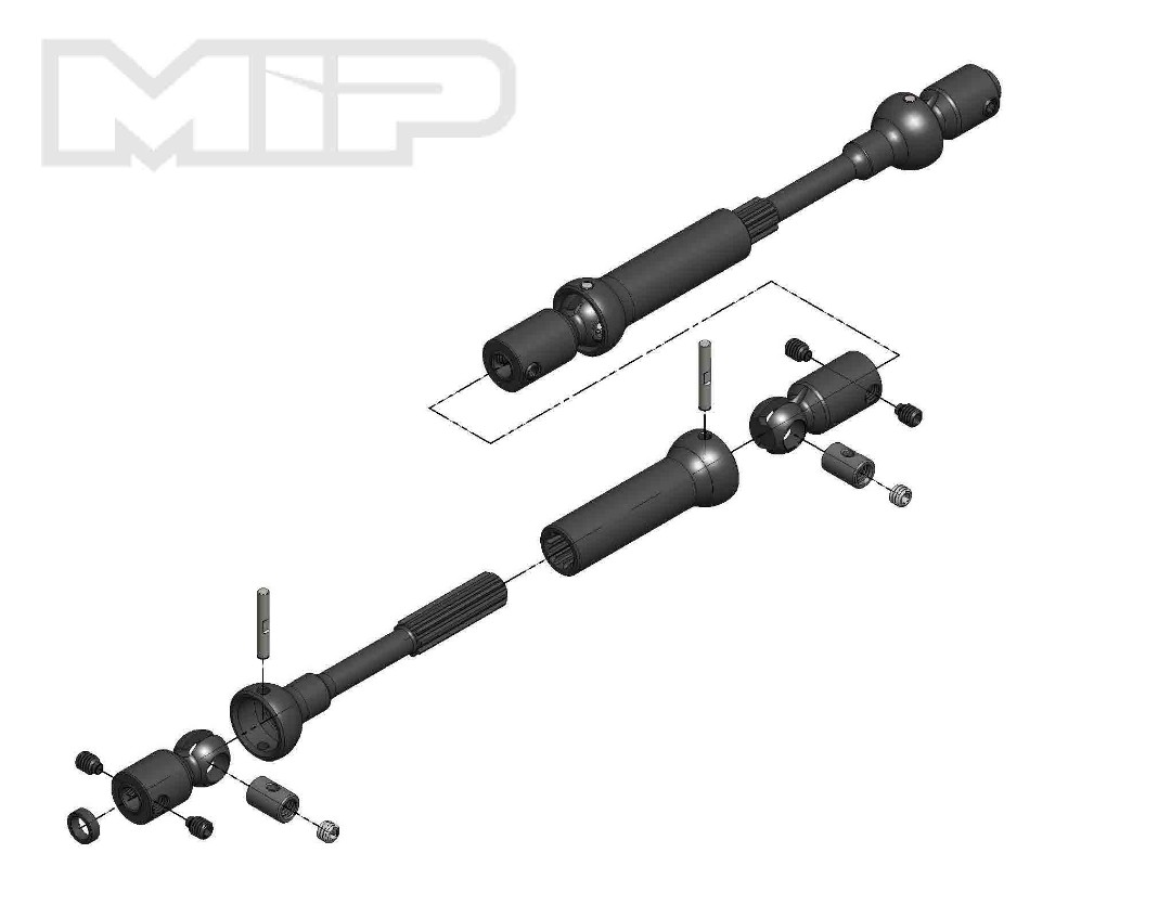 MIP X-Duty, Center Drive Kit, 120mm to 145mm w/ 5mm Hubs, Axial