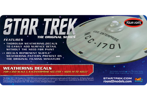 Star Trek USS Enterprise Weathering Decals