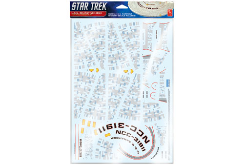 Star Trek U.S.S. Reliant Aztec Decals (Upgrades to kit AMT1036)