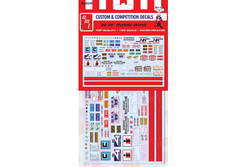 Big Rig Trucking Graphics Decals for 1/25 scale big rig semi tru