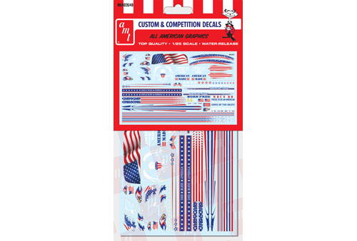 All American Graphics Decals for 1/24 or 1/25 car model kits
