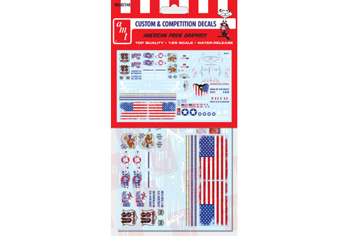 American Pride Graphics Decals for 1/24 or 1/25 car model kits