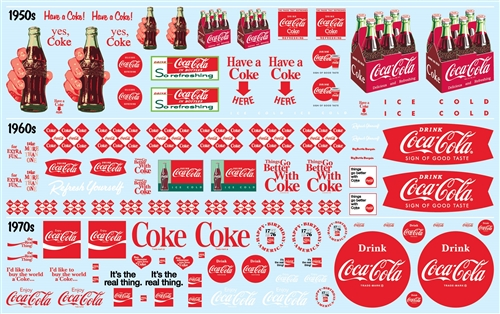 Coca-Cola Decal Pack (Use with almost any 1/24 or 1/25 scale car