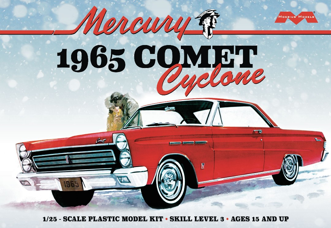 Moebius 1965 Mercury Comet Cyclone 1/25 Model Kit