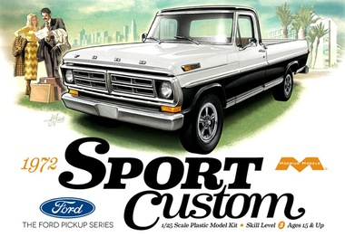 Moebius 1972 Ford Sport Custom Pickup 1/25 Model Kit