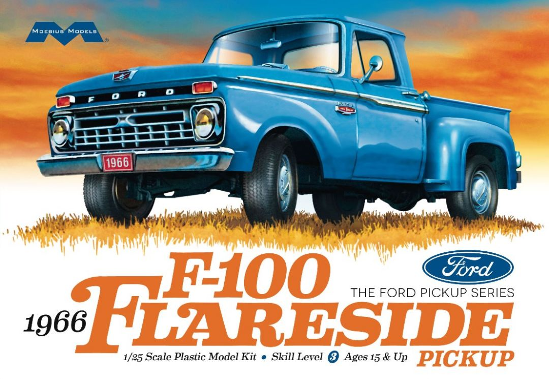 Moebius 1966 Ford F-100 Flareside Pickup 1/25 Model Kit Level 3