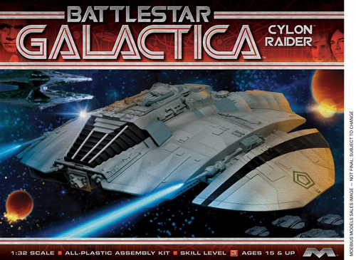Moebius Battle Star Galactica Orig. Cylon Raider 1/32 Model Kit