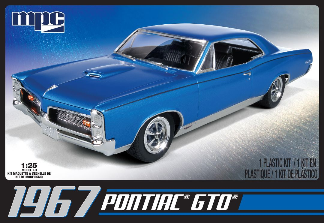 MPC 1967 Pontiac GTO Molded in White 1/25 Model Kit (Level 2)
