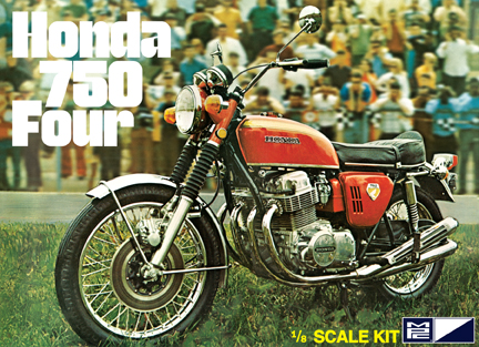 MPC Honda 750 Four Motorbike 1/8 Model Kit (Level 3)