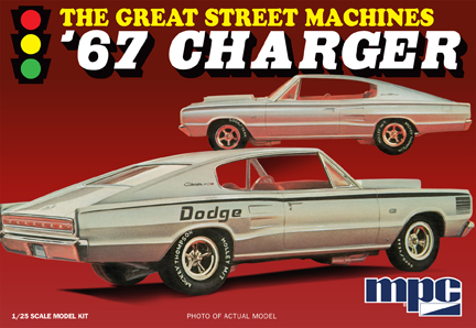1967 Dodge Charger The Great Street Machines Molded in White 1:2