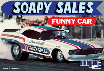 MPC Soapy Sales Dodge Challenger Funny Car 1/25 Model Kit