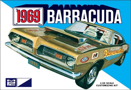 1969 Plymouth Barracuda Stock, Custom Molded in White 1/25 Model
