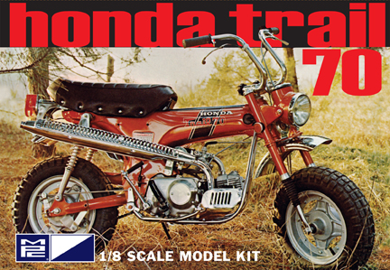 MPC Honda Trail 70 Motorbike 1/8 Model Kit (Level 2)