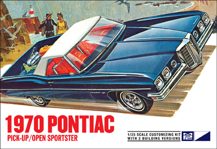 1970 Pontiac Pick-Up or Open Sportster Molded in White 1/25 Mode