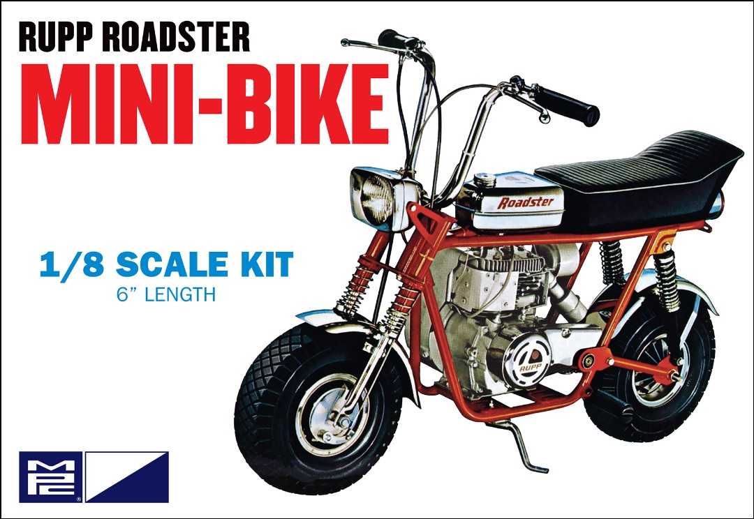 MPC Rupp Roadster Mini-Bike Molded in Red 1/8 Model Kit Level 2