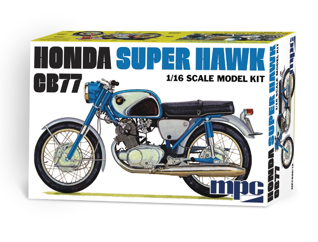 MPC Honda Super Hawk Motorcycle 1/16 Model Kit