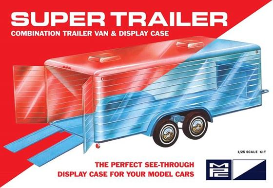 MPC Super Display Case Trailer Molded in Blue with Clear Trailer