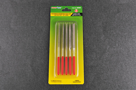 Master Tools Assorted diamond files set (Grit size:150) - 3x140m