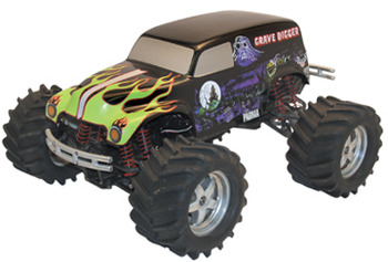 Body 1/10 Grave Digger #12 w/Decals (Clear Body)