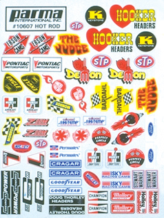 Parma PSE Hot Rod Decal Sheet