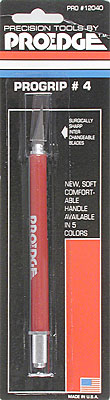 #4 Progrip knife red safety cap carded