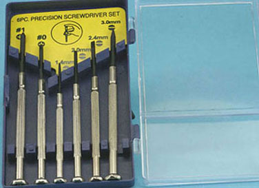 Jewelers srewdriver set 6pc