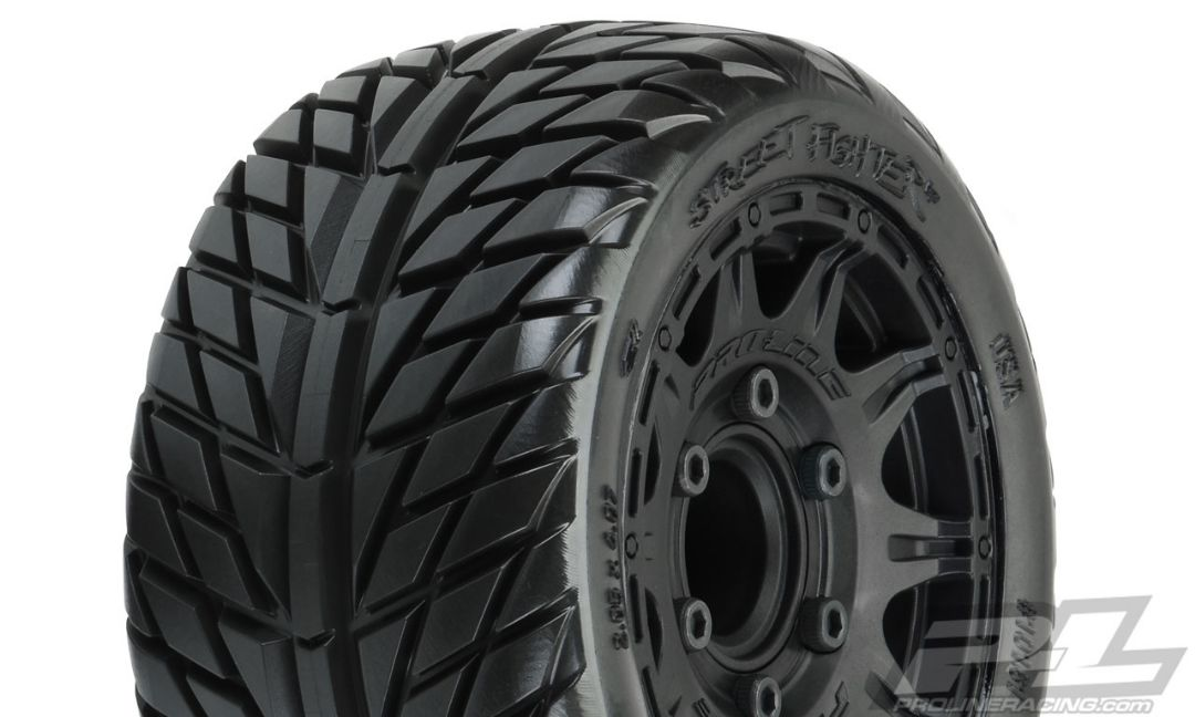 "Pro-Line Street Fighter LP 2.8"" MTD Raid Black 6x30 F/R"