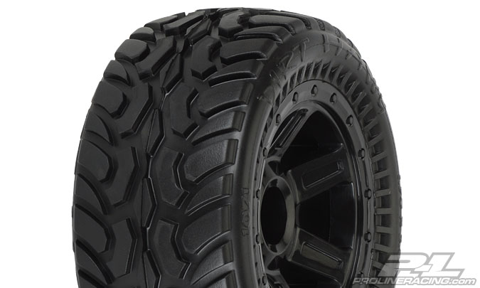 Pro-Line Dirt Hawg I Off-Road Tires Mounted on Desperado Wheels