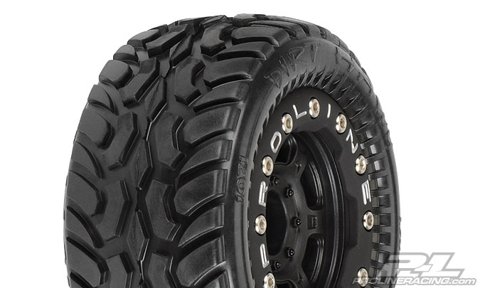 Pro-Line Dirt Hawg I Off-Road Tires Mounted on Black/Black Titus
