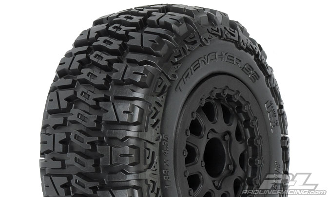 "Pro-Line Trencher SC 2.2""/3.0"" M2 (Medium) Tires Mounted"