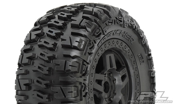 "Pro-Line Trencher 3.8"" (40 Series) All Terrain Tires (2) Mounted"