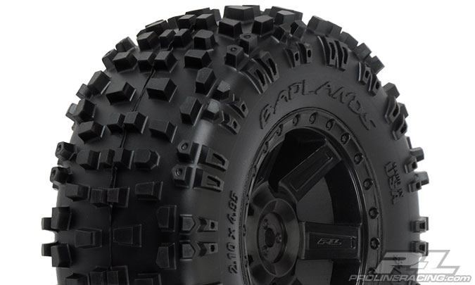 "Pro-Line Badlands 2.8"" (TraxxasR Style Bead) All Terrain Tires M"