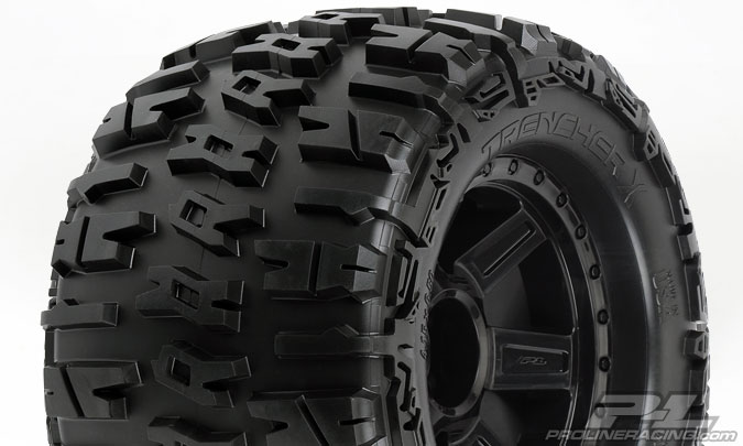 "Pro-Line Trencher X 3.8"" (TraxxasR Style Bead) All Terrain Tires"