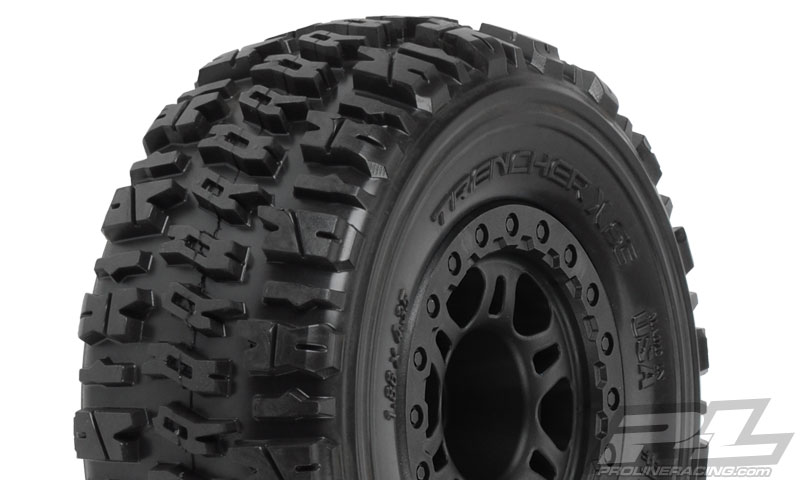 "Pro-Line Trencher X SC 2.2""/3.0"" M2 (Medium) Tires Mounted on Sp"