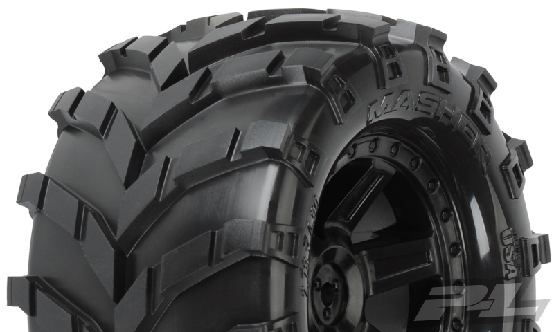 "Pro-Line Masher 2.8"" (TraxxasR Style Bead) All Terrain Tires Mou"