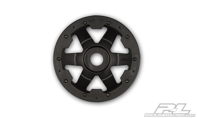Pro-Line Desperado Black/Black Bead-Loc Front Wheels (2) for Baj