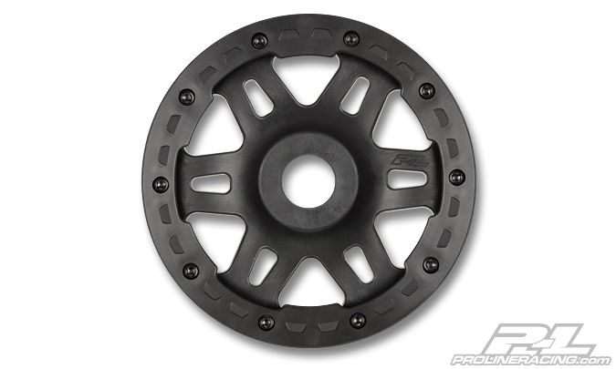 Pro-Line Split Six Black/Black Bead-Loc Rear Wheels (2) for Baja